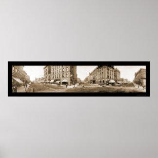 Foto 1907 de las calles de Sioux Falls SD Póster