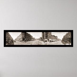 Foto 1907 de Ottumwa IA de la calle principal Poster