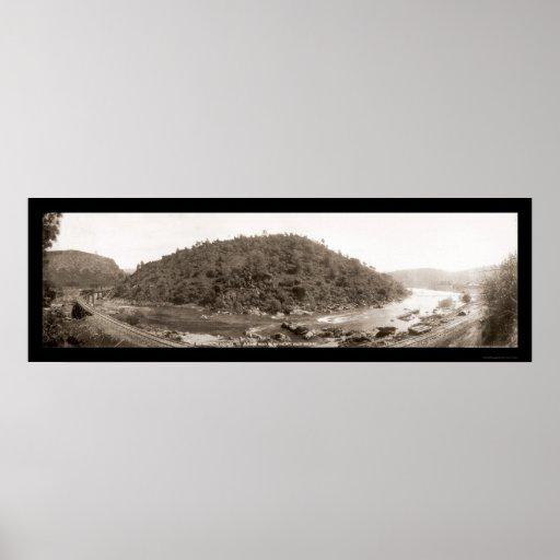 Foto 1907 del ferrocarril de Yosemite Impresiones