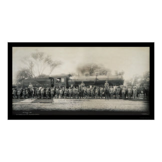 Foto 1907 del ferrocarril y de la caballería impresiones
