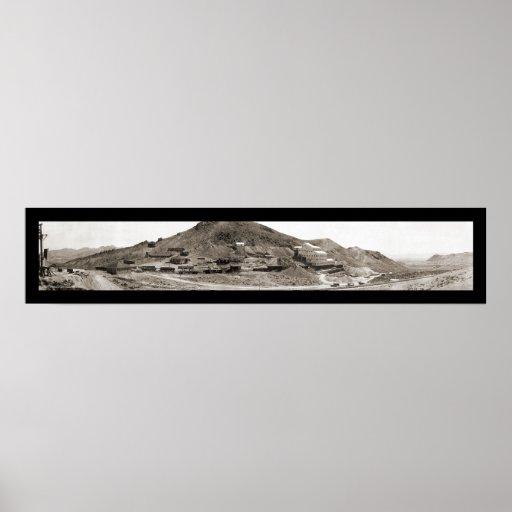 Foto 1907 del molino del nanovoltio de la riolita póster