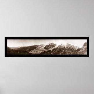 Foto 1907 del Monte Rainier WA Posters