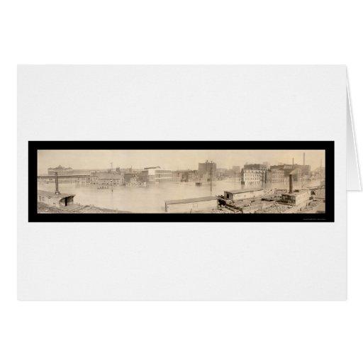 Foto 1907 del PA de la inundación de Pittsburgh Felicitacion
