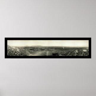 Foto 1907 del panorama de CA de la orilla Poster