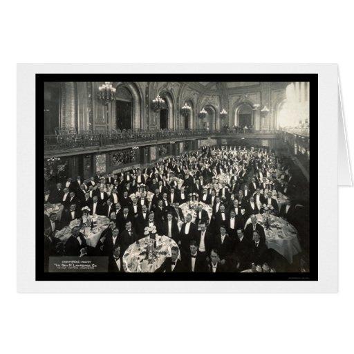 Foto 1908 de Chicago del banquete Tarjeta De Felicitación