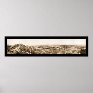 Foto 1908 de la colina de CA de la orilla Póster