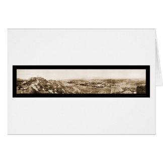 Foto 1908 de la colina de CA de la orilla Tarjeta De Felicitación