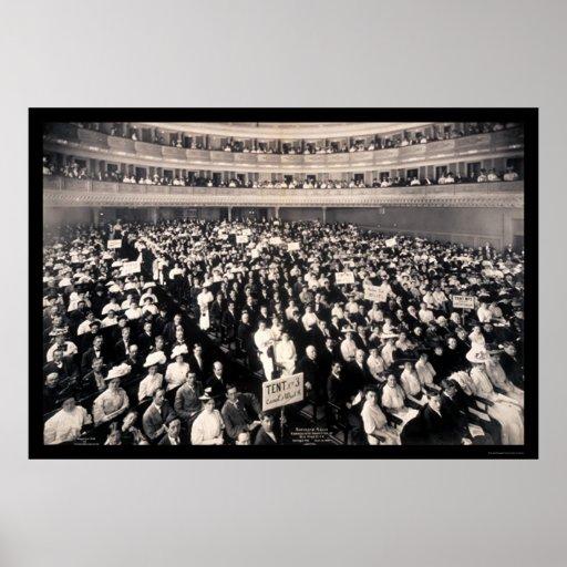 Foto 1908 de la reunión de Carnegie Hall Póster
