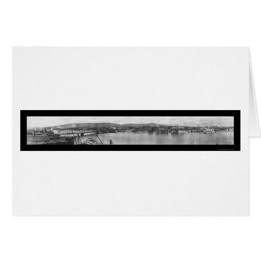 Foto 1908 de Portland O de la orilla del río Tarjeta De Felicitación