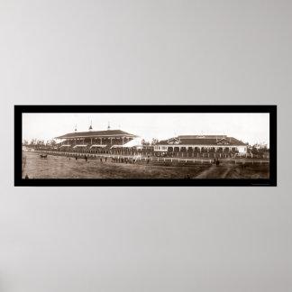 Foto 1908 de Santa Anita de la gradería cubierta Póster