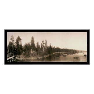 Foto 1908 de Tahoe de la bahía del huracán Póster
