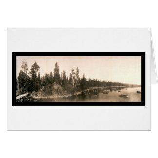 Foto 1908 de Tahoe de la bahía del huracán Tarjeta De Felicitación