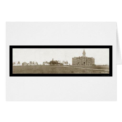 Foto 1908 de Wyoming Laramie de la universidad Tarjeta De Felicitación