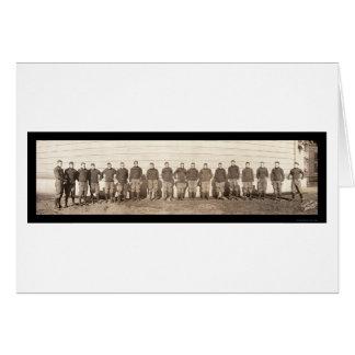 Foto 1908 del equipo de fútbol de Yale Tarjeta De Felicitación