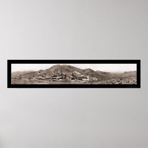 Foto 1908 del nanovoltio de la riolita de la mina  impresiones