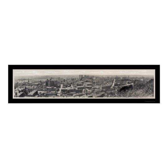 Foto 1908 del negocio de Cincinnati OH Póster
