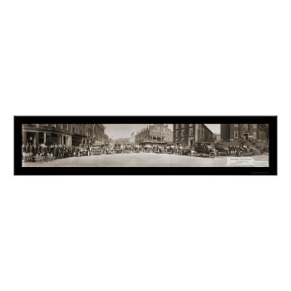 Foto 1908 del PA del desfile de Brookville Póster