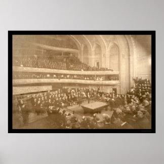 Foto 1908 del torneo de los billares póster