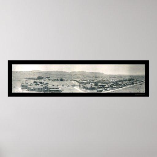 Foto 1909 de Bayard New México del fuerte Póster
