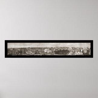Foto 1909 de Birdseye Los Ángeles Póster
