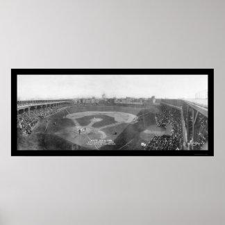 Foto 1909 de Chicago White Sox Cubs Poster