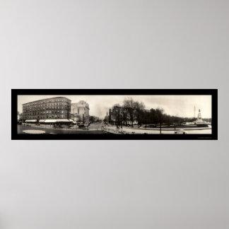 Foto 1909 de DC de la avenida de Pennsylvania Póster