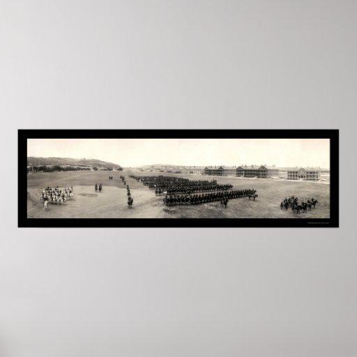Foto 1909 de Fort Meade de la caballería Poster
