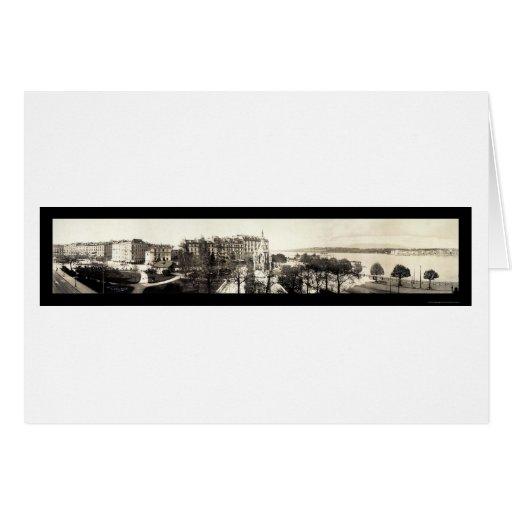 Foto 1909 de Ginebra, Suiza Tarjeta De Felicitación
