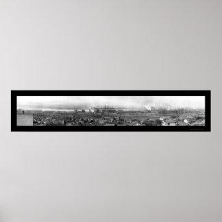 Foto 1909 de Harrisburg PA Steel Company Posters