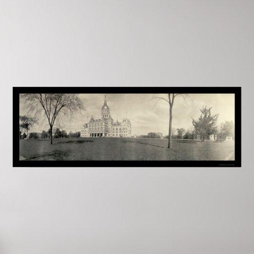 Foto 1909 de Hartford CT del capitolio Posters