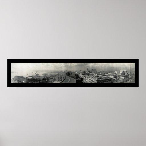 Foto 1909 de Jacksonville FL Póster