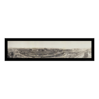 Foto 1909 de Kansas City del tren Póster