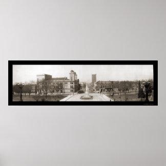 Foto 1909 de la calle del SC de Columbia Póster