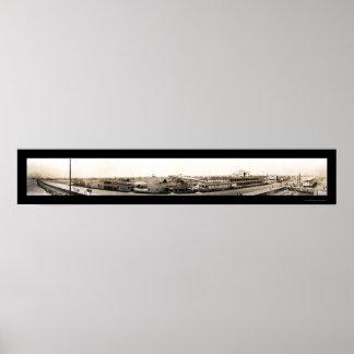 Foto 1909 de la costa de Galveston Posters