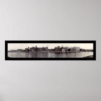 Foto 1909 de la costa de Troy NY Póster