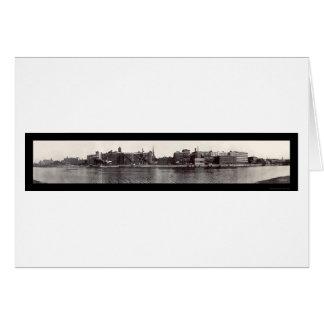 Foto 1909 de la costa de Troy NY Tarjeta De Felicitación