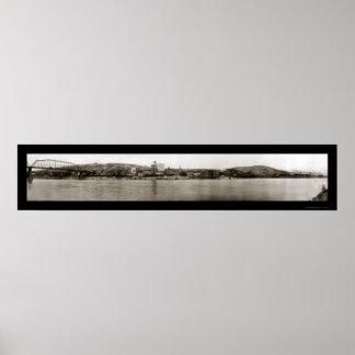 Foto 1909 de la costa de WV que rueda Impresiones