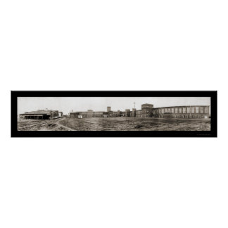 Foto 1909 de la fábrica de algodón de Charlotte Impresiones