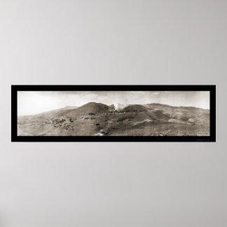 Foto 1909 de la mina de Jerome AZ Verde Posters