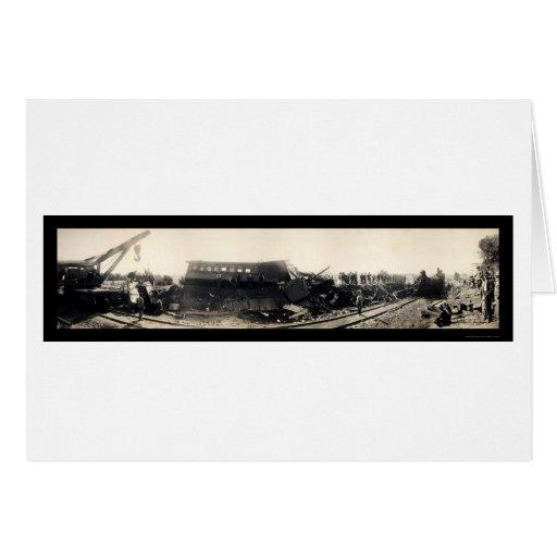 Foto 1909 de la ruina del tren de Cty del granjero Tarjeta De Felicitación