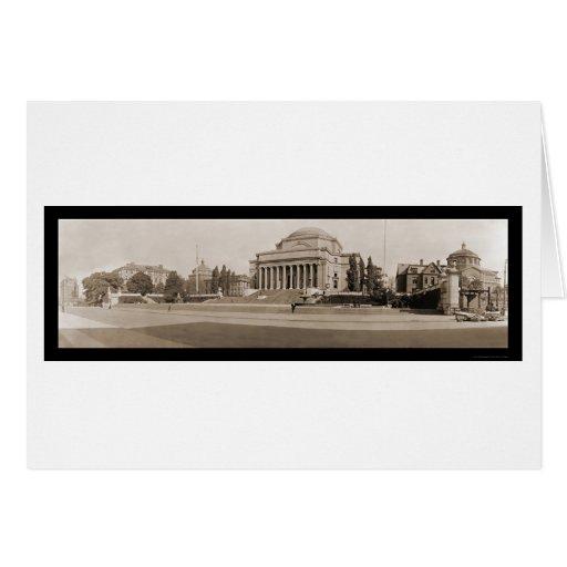 Foto 1909 de la Universidad de Columbia NY Tarjeta De Felicitación
