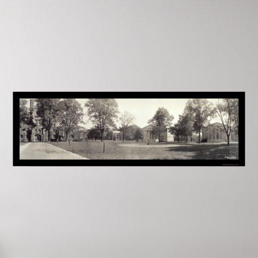 Foto 1909 de la Universidad de Princeton Póster