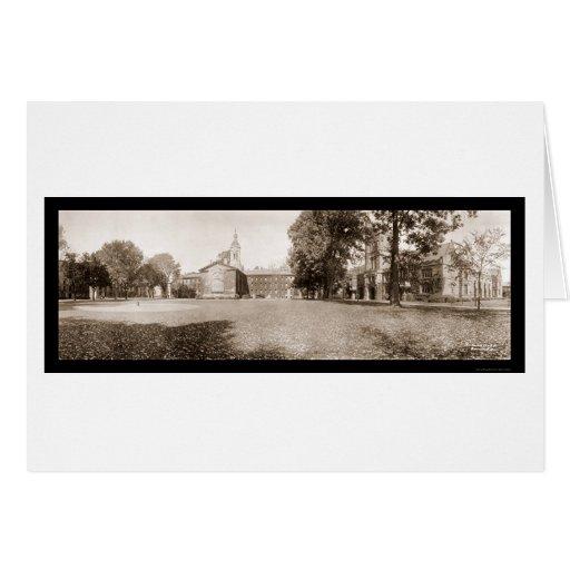 Foto 1909 de la Universidad de Princeton Tarjeta De Felicitación