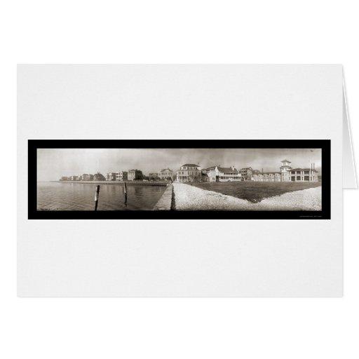Foto 1909 de LG del club náutico de Charleston Tarjeta De Felicitación