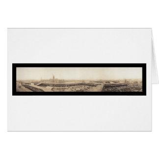 Foto 1909 de los corrales de Kansas City Tarjeta De Felicitación