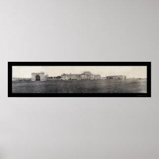 Foto 1909 de los edificios de la Academia Naval Póster