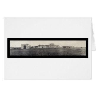 Foto 1909 de los edificios de la Academia Naval Tarjeta De Felicitación
