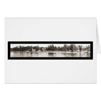 Foto 1909 del agua de Chautauqua NY Tarjeta De Felicitación
