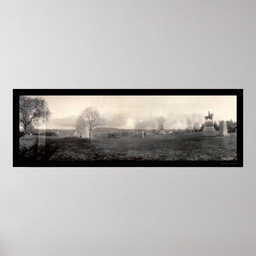 Foto 1909 del cementerio de Gettysburg Posters