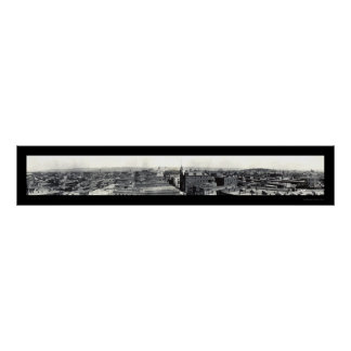 Foto 1909 del horizonte de la Wilkes-Barra Impresiones